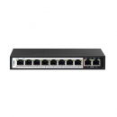 Switch D-Link 10-Port Fast Ethernet Switch with 8 PoE Ports and 2 Uplink Ports DES-F1010P-E
