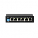 Switch D-Link 6-Port 10/100Mbps With 4 PoE Ports and 2 Uplink Ports DES-F1006P-E